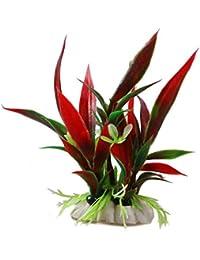 Plantas Planta de Hierba Artificial Ornamento Planta Algas Hierba Artificial acuática de los Peces de Acuario…