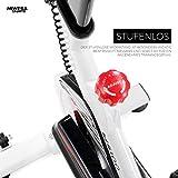 Miweba Sports Indoor Cycling MS100 Fitnessbike - 10 Kg Schwungmasse - Stufenfreie Widerstandsverstellung - Pulsmessung (Weiß) - 5