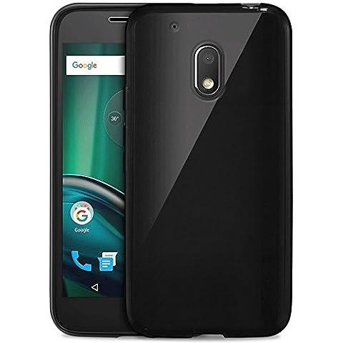 Funda Carcasa Gel Negro para Lenovo Motorola Moto G 4 PLAY 2016 Dual Sim , Silicona TPU suave ultrafina moto G4 PLAY 5