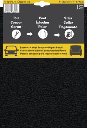 Pelle Patch Selbstklebender Reparaturflicken für Leder und Vinyl (Schwarz)