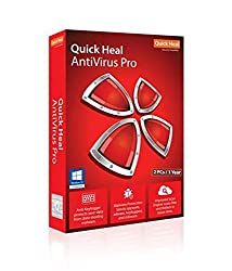 Quick Heal Antivirus Pro Latest Version for 2 PCs over 1 Year (Black)