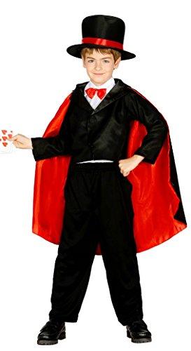 Costume da mago prestigiatore illusionista bimbo 7-9 anni