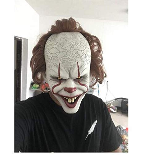 Kostüm King Stephen Clown - Yichener Stephen King's It Maske Pennywise Horror Clown Joker Maske Clown Maske Halloween Cosplay Kostüm Requisiten