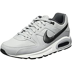 Nike Air Max Command Leather, Zapatillas de Running para Hombre, Gris (Gris (Wolf Grey/Mtlc Dark Grey-Black-White)), 45 EU