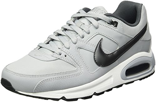Nike air max command leather, scarpe running uomo, grigio (wolf mtlc dark grey/black / white 012), 45 1/3 eu