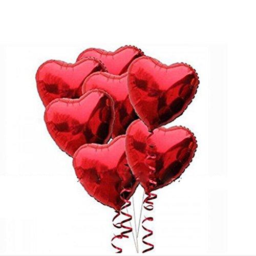 VORCOOL 10pcs Ballons d'hélium de clinquant coeur rouge pour la Saint Valentin mariage décoration
