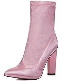 SPYLOVEBUY RHINO Femmes à Talon Bloc Bottines Chaussures