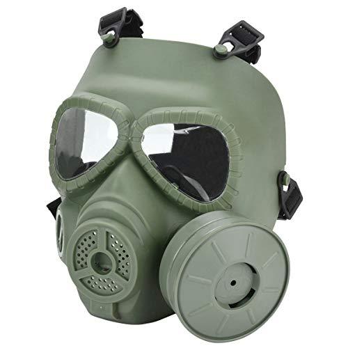 QHIU Taktische M04 Gesichtsschutz Tactical Full Face Maske mit Einzelgebläse Schutz Gear für Airsoft Paintball CS War Spiel (Of War-maske Gears)