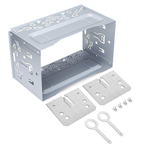 LOETAD 2DIN Einbaurahmen Metal Eisen Einbauschacht Universal für Autoradio Radio DVD Player GPS Navigation