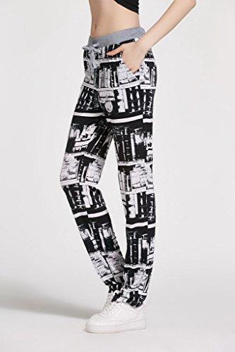 Smile YKK Legging Fantaisie Femme Pantalon Long Casual Yoga Jogging Sport Plage Imprimé Floral Multicolore #F