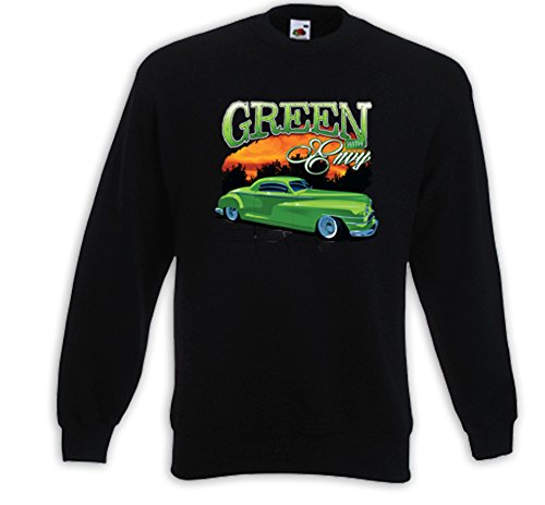 Hot Rod Pull Green Envy Rockabilly Vintage V8 Rat Rod USA Noir