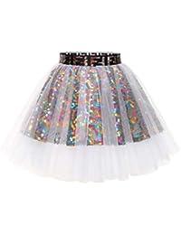 MuaDress Mini Tüllrock Shimmer Glam Pailletten verziert Tutu Sexy Festliche Kostüm
