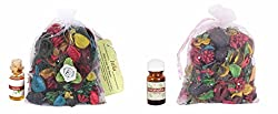 Itiha Jasmine Aroma Oil and Eucalyptus Essential Oil Potpourri Freshner Set of Four (20 ml)