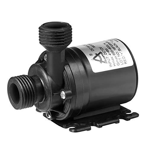 DC 12V 5W Pompa acqua micro brushless ultra silenziosa per acquario a fontana Basso consumo di energia a basso rumore Nero