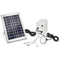 Solar-Set incl. batería recargable, incl. cable de conexión, con LED Leuchte Esotec 03005 Leistung 5 W