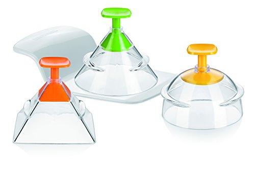 Tescoma-Presto-Foodstyle-Stampi-3D-3-Forme-Plastica-VerdeArancioGiallo