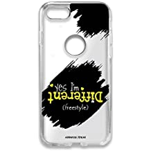Aswhole Ideas I AM Different Quote Designer Printed Transparent Back Shell Soft Cover for Apple iPhone SE/Apple iPhone 5/ Apple iPhone 5S