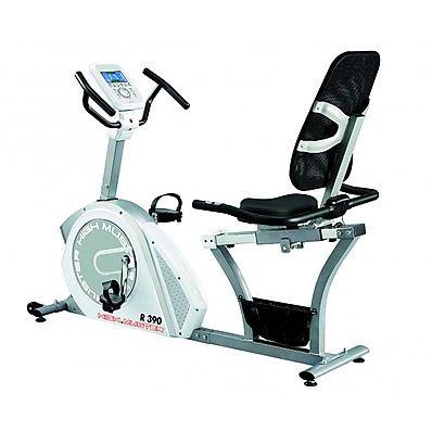 Cyclette recumbent R 390 Ergometro volano 12 kg High Power Fitness Palestra Bike