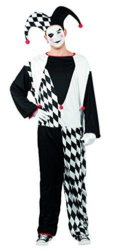 Boland 83825 Karnevalskostüm, schwarz, M/L (Schwarz Hut Jester Und Rot)