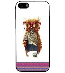 PrintDhaba Owl D-5787 Back Case Cover for APPLE IPHONE 5S (Multi-Coloured)