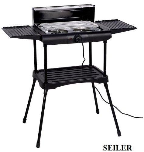 Seiler BBQ Elektro-Grill für Innen und Aussen Tisch-Grill Grill-Wagen Elektronischer AEG Grille Station schwarz