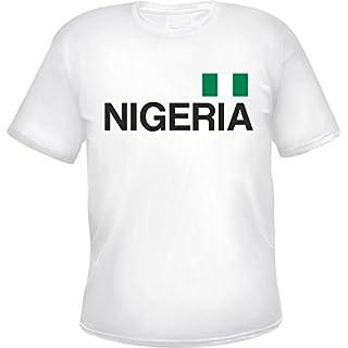 HB_Druck Nigeria Herren T-Shirt Weiß M