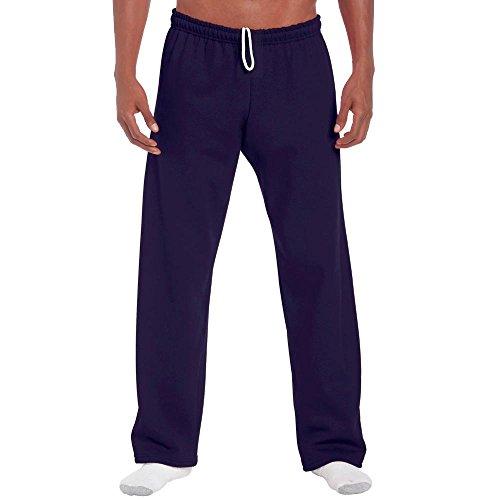 Gildan - Jogginghose mit offenem Beinabschluss / Navy, XL
