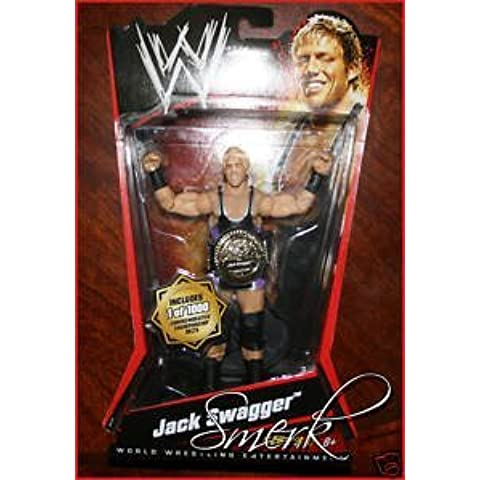 JACK SWAGGER * 2010 WWE Series 2, 1/1000 Commemorative Championship Belts Chase Variant Action Figure by