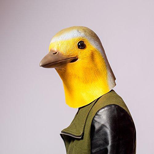 Neuheit-Halloween-Kostüm-Party-Latex-Tierkopf-Schablone Masken Robin Vogel (Robin Maske)