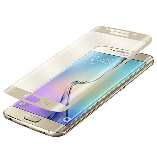 Fenrad® oro esclusivo completo vetro temperato pellicola protettiva per samsung galaxy s6 edge plus g9280 full coverage schermo di protezione--gold