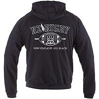 Dirty Ray Rugby New Zealand All Black sudadera hombre verano temporada media con capucha BL2 (M)