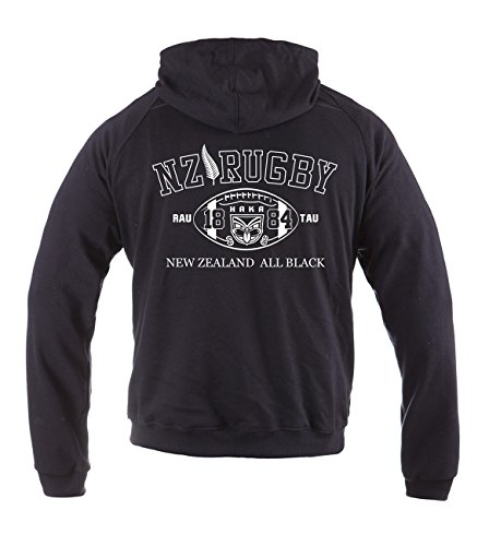 Dirty Ray Rugby New Zealand All Black Herren Übergangs Sommer Hoodie BL2 (L)