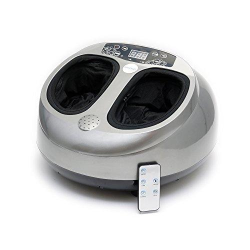 Spagro Elektrisch Fußmassagegerät Fussmassage Shiatsu Rollen Rolling Kneten Wärme Wärmefunktion Hitze Luftkompression Tiefe Beruhigende Massage...