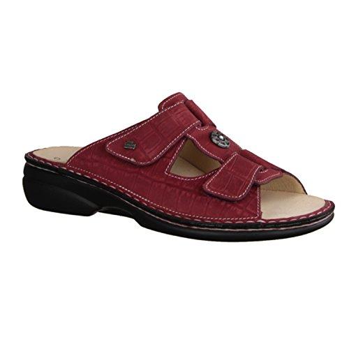 Preisvergleich Produktbild Finn Comfort Pattaya - Damenschuhe Pantolette / Zehentrenner,  Rot,  Leder (Oldbrass)