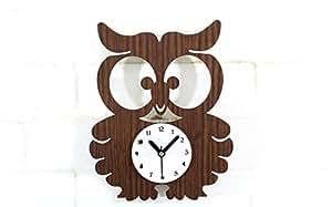 Sourdine en forme de chouette Vintage Horloge murale Creative Fashion Stype européenne pour la décoration de la maison
