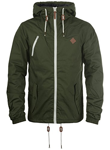 !Solid Tilden Herren Übergangsjacke Herrenjacke Jacke Mit Kapuze, Größe:XL, Farbe:Climb Ivy (3785)