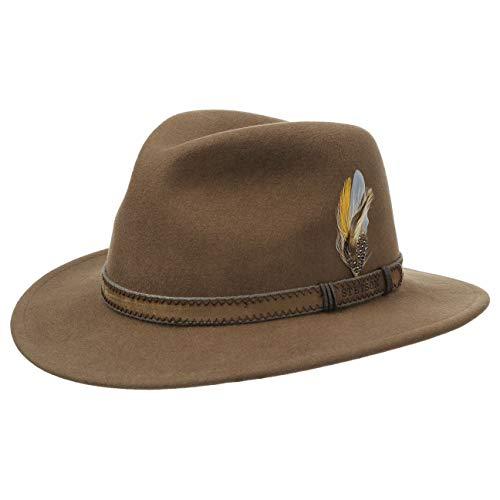 Stetson Hat Company (Stetson Rutherford Travellerhut Herren   Made in USA Traveller Wollhut VitaFelt mit Lederband Frühling-Sommer Herbst-Winter   L (58-59 cm) braun)