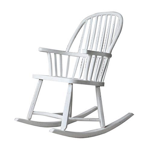 HYYTY-Y Silla Mecedora de Madera Vintage, reposabrazos y sillón de Respaldo ensanchado 626-YY (Color : D)