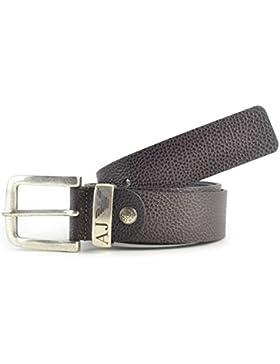 Pelle In Armani Jeans Marrone Cappello Yf76byvg