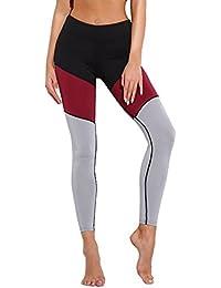 eb20f6ebb VPASS Mujer Pantalones,Elásticos Patchwork Moda Pantalones de Yoga Mujer  Fitness Mallas Gym Yoga Slim