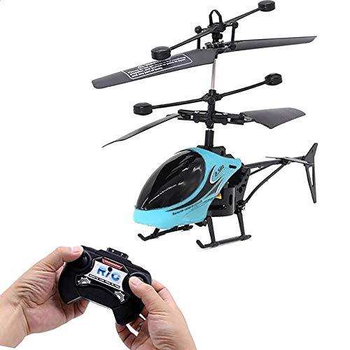 QYLJX Hélicoptère Radiocommandé Télécommandé, Hélicoptère RC, Hélicoptère de Vol électrique à Distance électrique Clignotant Jouets Jouets pour Avions Cadeau pour Enfants