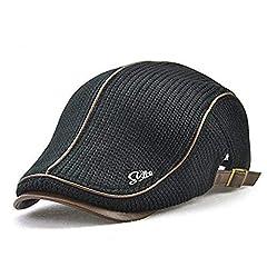 Idea Regalo - LAOWWO Baschi Scozzesi Berretto Uomo Vintage Cappello a Maglia Regolabile Berretto Piatto