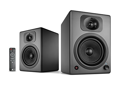wavemaster TWO NEO stone gray – Regallautsprecher-System (60 Watt) mit Bluetooth-Streaming, digitalen Anschlüssen und IR-Fernbedienung Aktiv-Boxen Nutzung für TV/Tablet/Smartphone, dunkelgrau (66364)