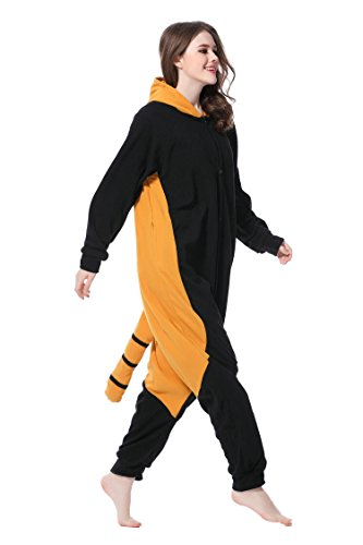 Kigurumi Pyjama raton laveur Costume Cosplay unisexe pour Carnaval Halloween Noël Anniversaire Party Noir