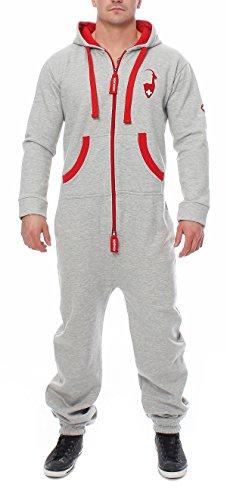 Höhenhorn 91I5 Herren Gaudi Edition Jumpsuit Jogging Anzug Overall Hellgrau L