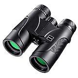 Prismáticos 10x42 de Campo Amplio Binoculares Profesionales HD para Viajeros, para Observar Aves, Detalles más Luminosos y Nítidos, a Prueba de Agua y Polvo
