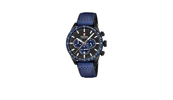 Herren Chronograph Armband Uhr Mit Leder F203592 Festina Quarz 6gyvf7Yb