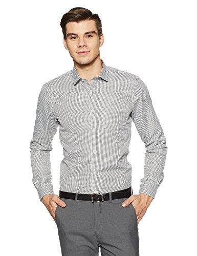 Excalibur EX Men's Solid Regular Fit Formal Shirt (276322810 Black 40 FS)
