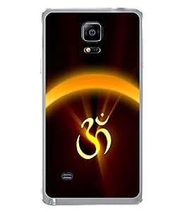 PrintVisa Designer Back Case Cover for Samsung Galaxy Note 4 :: Samsung Galaxy Note 4 N910G :: Samsung Galaxy Note 4 N910F N910K/N910L/N910S N910C N910Fd N910Fq N910H N910G N910U N910W8 (The Om Symbol Design)
