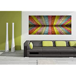 AG Design FTG 0945  Holzbrett, Papier Fototapete - 202x90 cm - 1 Teil, Papier, multicolor, 0,1 x 202 x 90 cm